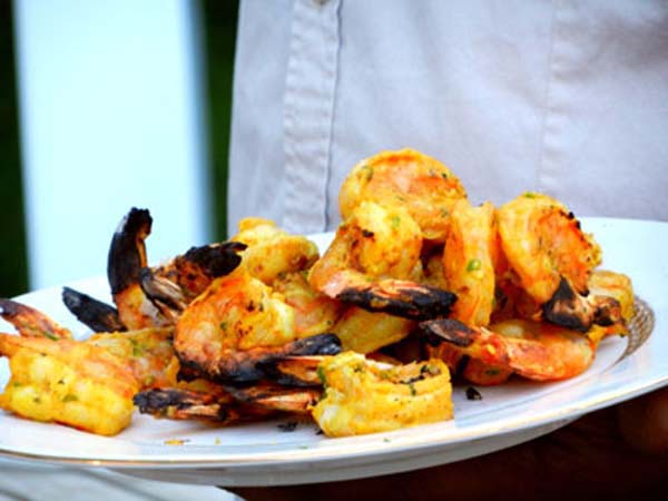 Tandoori shrimp by Indian chef Hemant Mathur