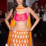 Indian fashions show bright colors for spring