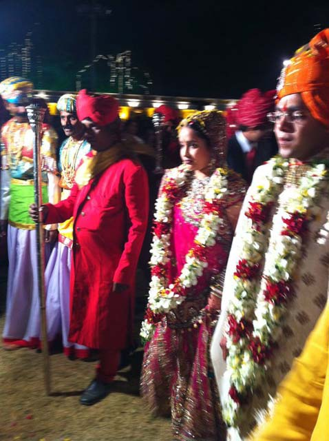 The couple at their Indian wedding