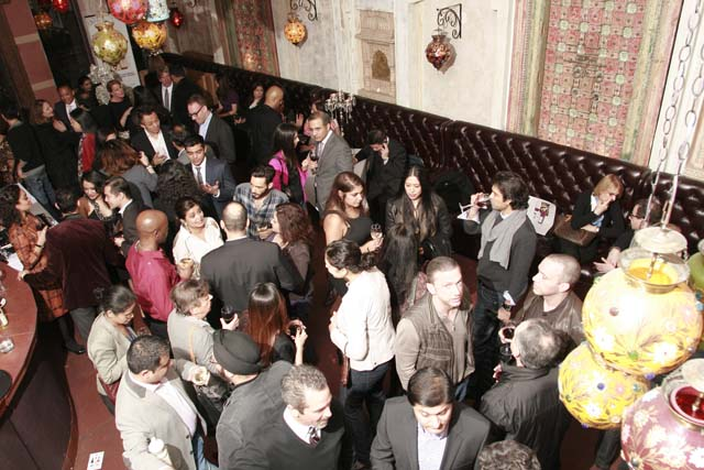 Guests gathered at Devi Restaurant for the launch of Sufi Wines