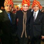 Dressed for the Indian wedding in turbans