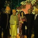 Zoran with his parents and hosts at the Indian wedding