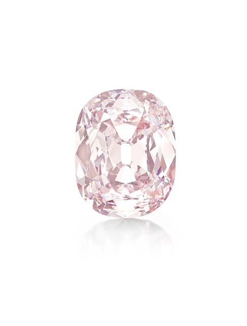 THE PRINCIE DIAMOND  An historic cushion-cut fancy intense pink diamond, weighing approximately 34.65 carats