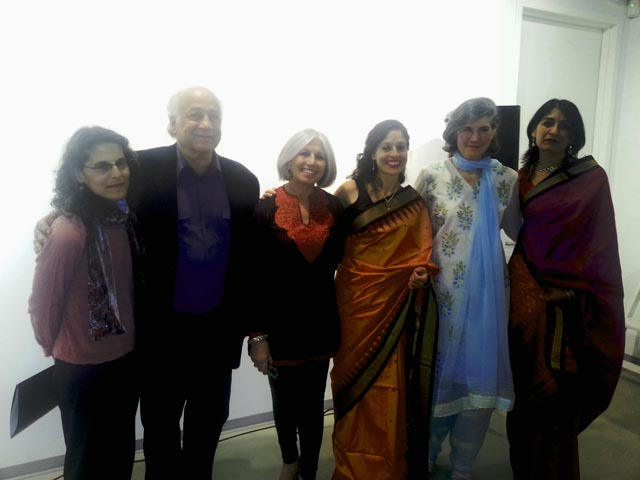 Shirish korde and Aroon Shivdasani with Bandit Queen participants