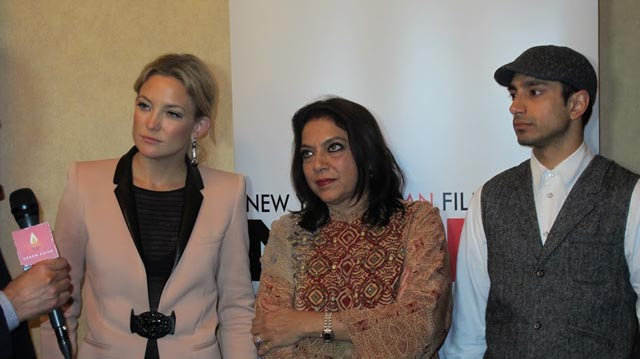 Kate Hudson, Mira Nair and Riz Ahmed