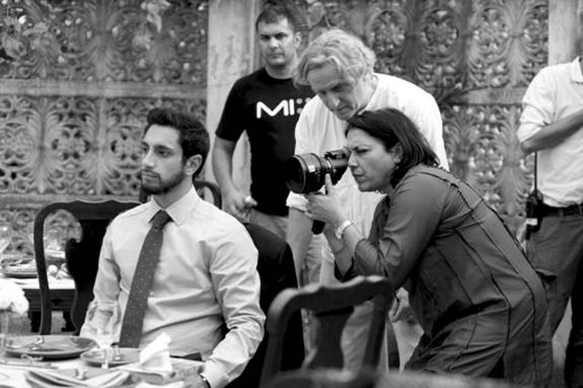 Mira Nair on the sets of 'The Reluctant Fundamentalist with Riz Ahmed