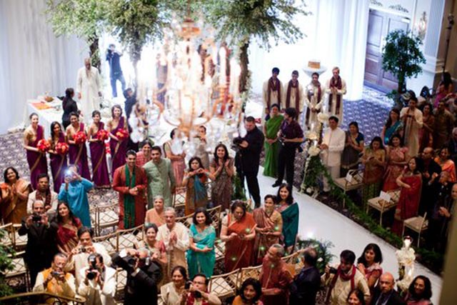 Indian weddings are inspired by Bollywood extravaganzas