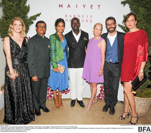 Kristy Caylor, Honorable Dnyaneshwar Manohar Mulay, Freida Pinto, David Adjaye, Wendy Schmidt, Paul van Zyl,