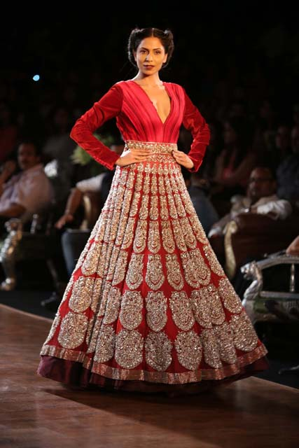 Royal Red outfit by Manish Malhotra