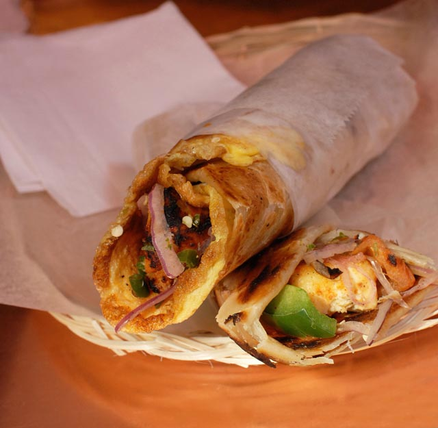 Kati rolls at the Kati Roll Company