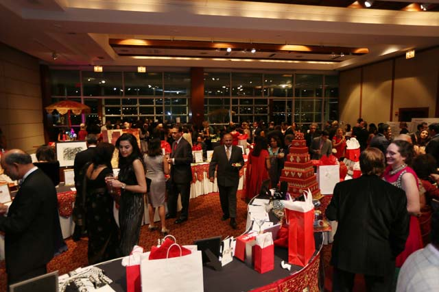 Cocktails and silent auction at Viva Calcutta