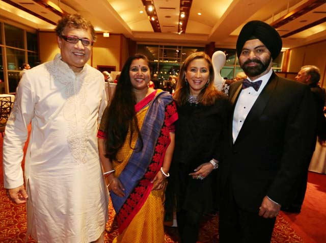 Derek O' Brien, MP, with his wife Dr. Tonuca Basu, Meera Gandhi of Giving Back Foundation and Ajit Banga, Chairman of Mastercard