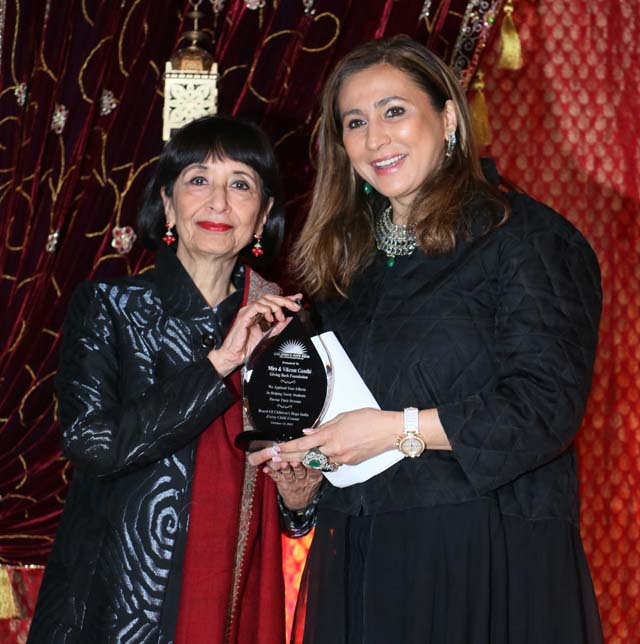 Meera Gandhi of Giving Back Foundation with Madhur Jaffrey