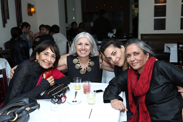 Four power women at IAAC - Madhur Jaffrey, Aroon Shivdasani, Sarita Choudhury & Deepa Mehta