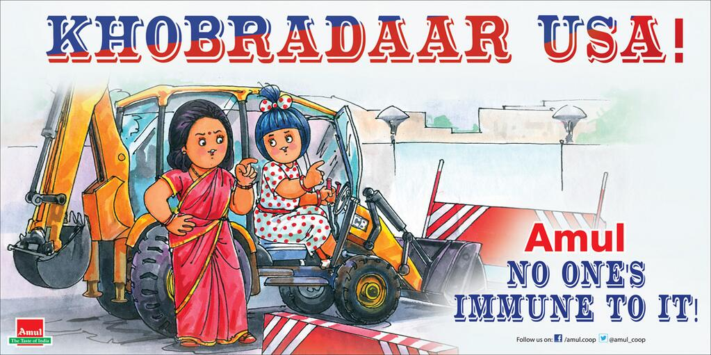 Amul's take on the Khobragade case