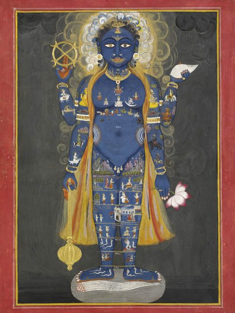 Vishnu Vishvarupa - the Hindu deity Vishnu as the Cosmos.