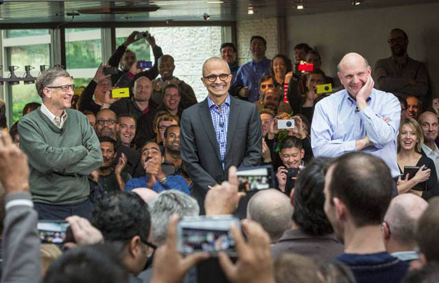 Meet the CEO - Satya Nadella with Bill Gates & Steve Ballmer