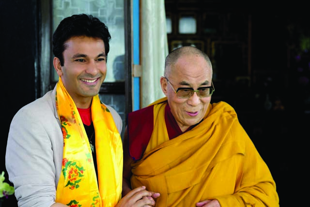 The author with His Holiness, The Dalai Lama