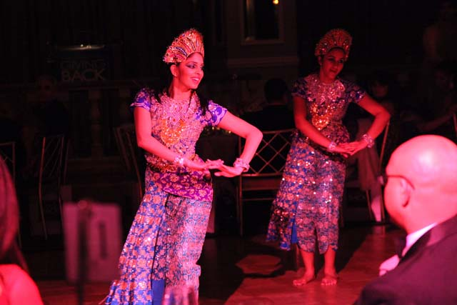 Dancers from Bina Menon's troupe at the GBF Gala