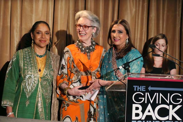 Phyicia Rashad, Barbara Tober & Meera Gandhi at the Giving Back Foundation Gala