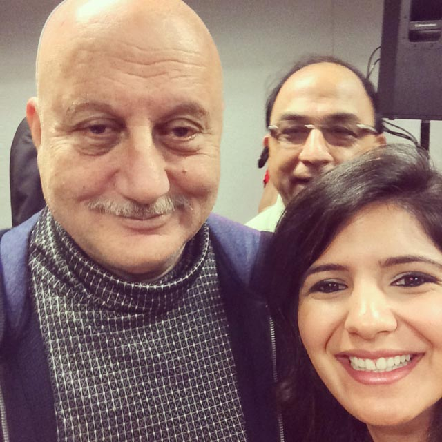 A selfie with Anupam Kher at IIFA