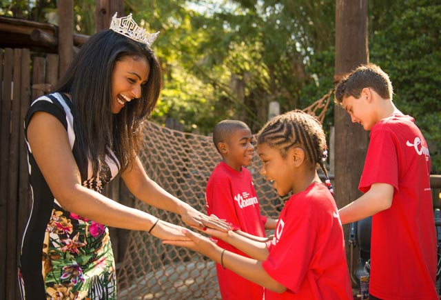 Miss America with Champions of Children's Miracle Network Hospitals at Disney World (Photo: Kent Phillips