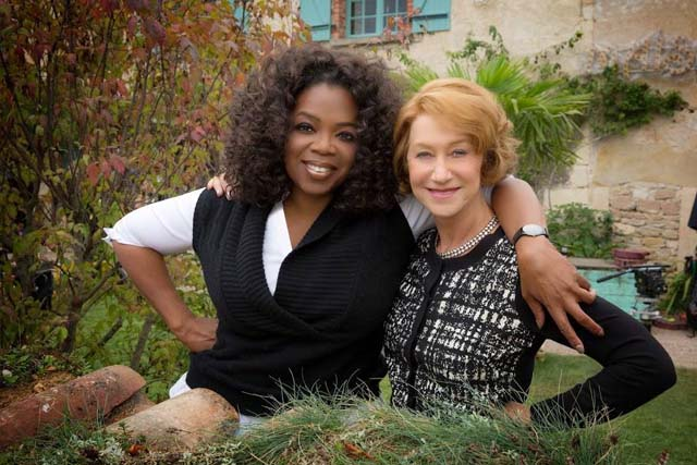 Oprah Winfrey & Helen Mirren (Photo: courtesy FB page - The Hundred Foot Journey.