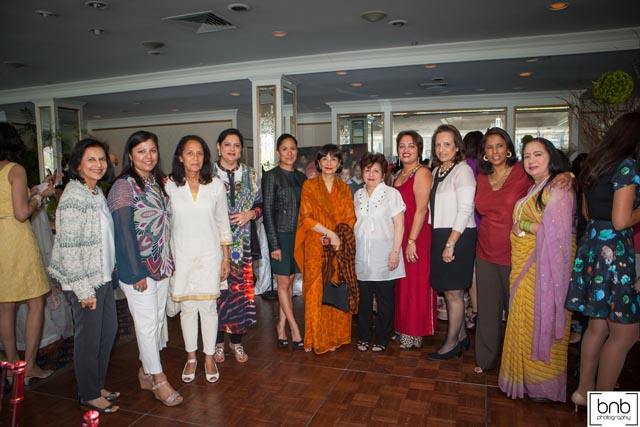 The Board members of CHI with Madhur & Sakina Jaffrey