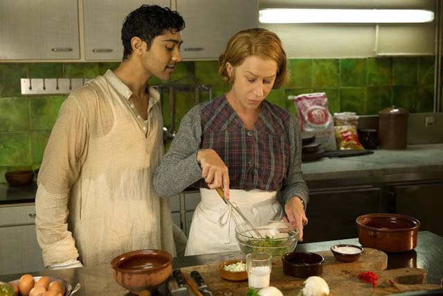 Manish Dayal and Helen Mirren ( Photo: FB page The Hundred Foot Journey)