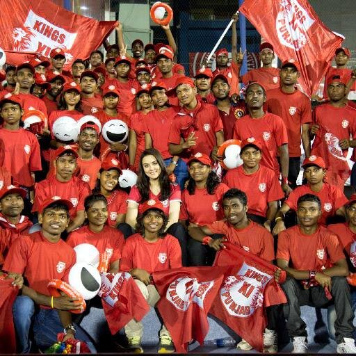 Preity Zinta with the Kings XI Punjab fans