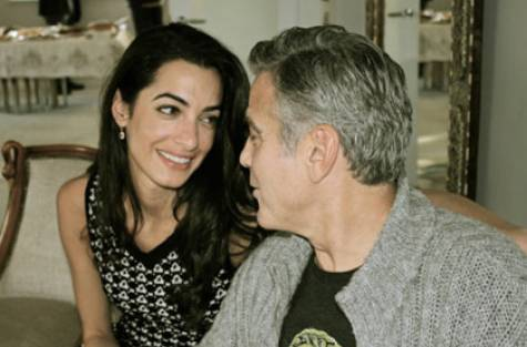 American actor George Clooney and finance Amal Almuddin photo- Gulf News Archives