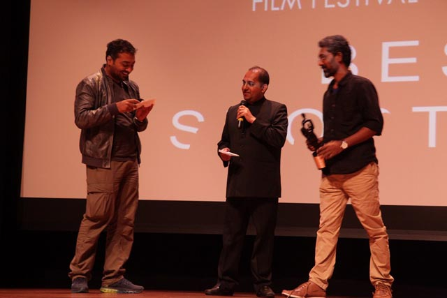Anurag Kashyap and Nagraj Manjule with Anubhav Pal