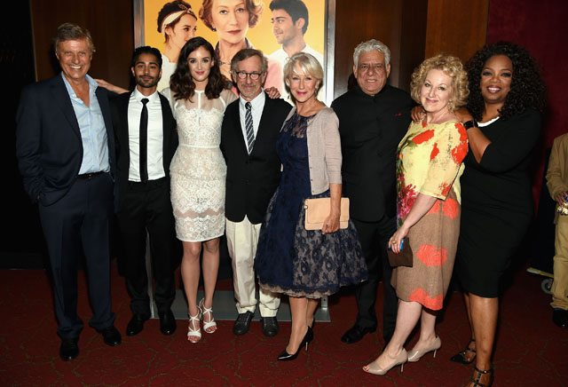 The Hundred Foot Journey premiere in New York -Lasse Hallstrom, Manish Dayal, Charlotte Le Bon, Steven Spielberg, Helen Mirren, Om Puri, Juliet Blake and Oprah Winfrey