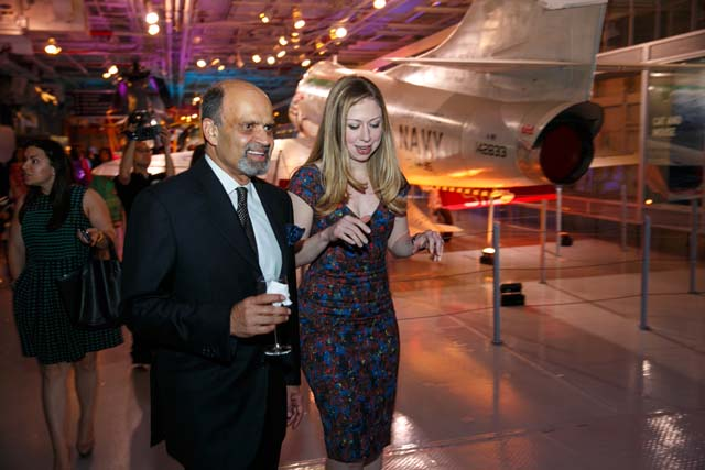 Chelsea Clinton with Dinny Devitre (Executive Chairman, Pratham)