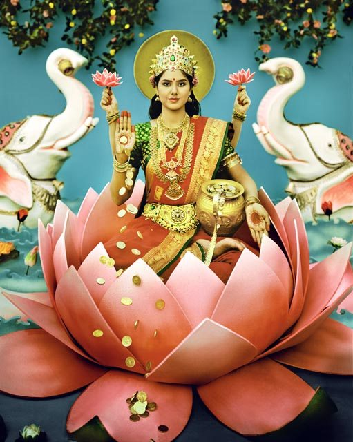 Ma Lakshmi, the Goddess worshiped at the Hindu festival of Diwali