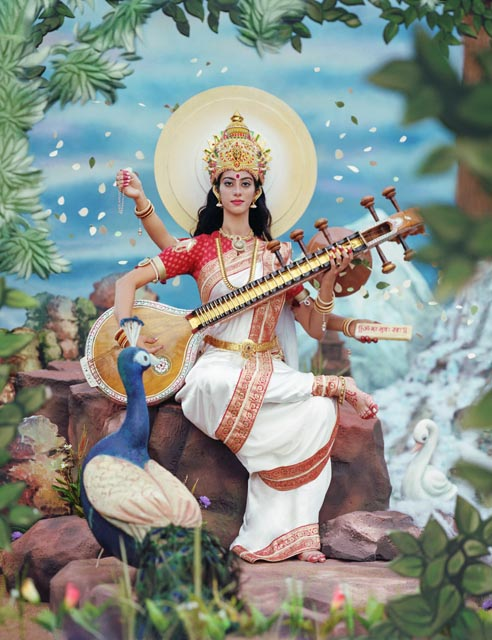 Ma Saraswati, the Hindu Goddess of Art & Learning