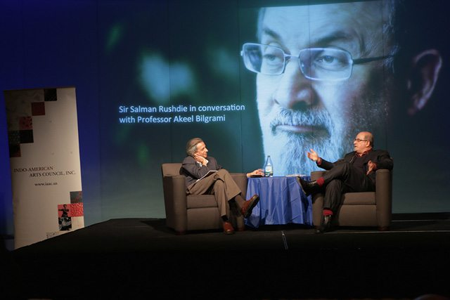 Salman Rushdie in conversation with Akeel Bilgrami