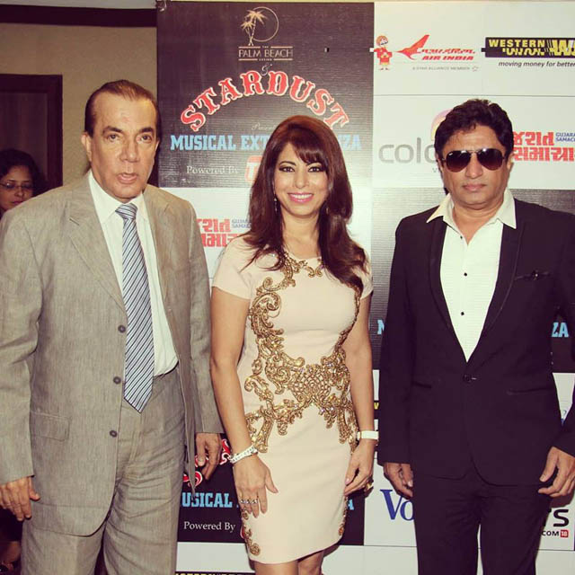 Poonam kay with Nair Hira of Magna Publishing and composer Anand Raj Anand