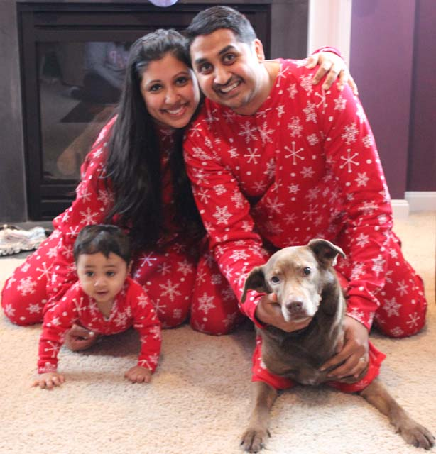 Aarti and Saurah with the new additions to their family
