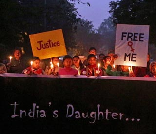Picture Shows: Candle-lit vigils were held throughout India to commemorate the death of Jyoti. - (C) Assassin Films - Photographer: Screen grab