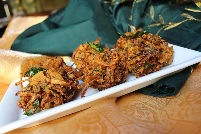 Onion Pakoras from Thali
