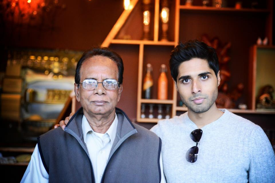 Roni Mazumdar with his father