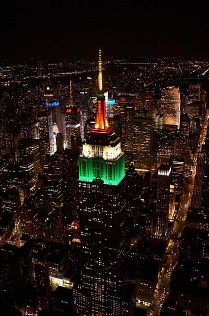 Indian Independence Day marked by the Empire State Building