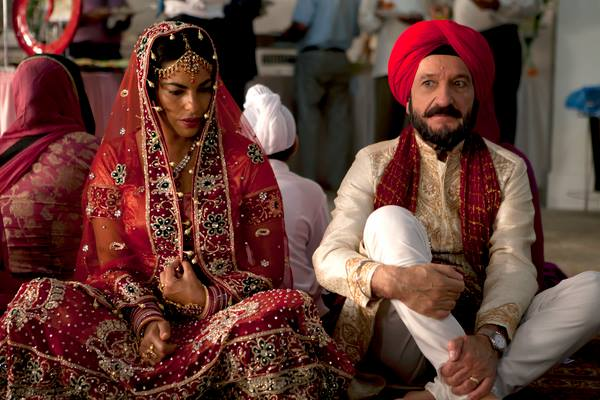 Sarita Choudhury and Ben Kingsley in Learning to Drive