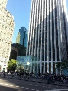 Crowds on Fifth Avenue