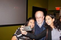 A selfie with Salman Rushdie