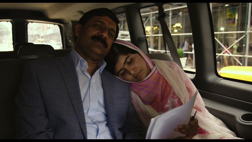 Malala with her father
