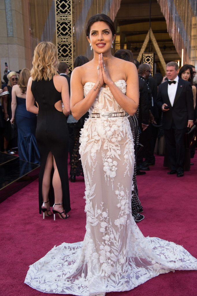 Presenter Priyanka Chopra arrives at The 88th Oscars® at the Dolby® Theatre in Hollywood, CA on Sunday, February 28, 2016.