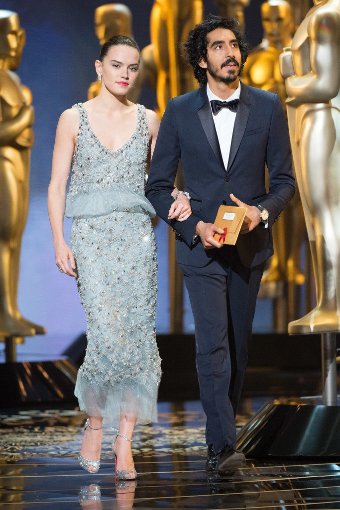 Daisy Ridley and Dev Patel present the Oscar® for Best documentary feature during the live ABC Telecast of The 88th Oscars® at the Dolby® Theatre in Hollywood, CA on Sunday, February 28, 2016.