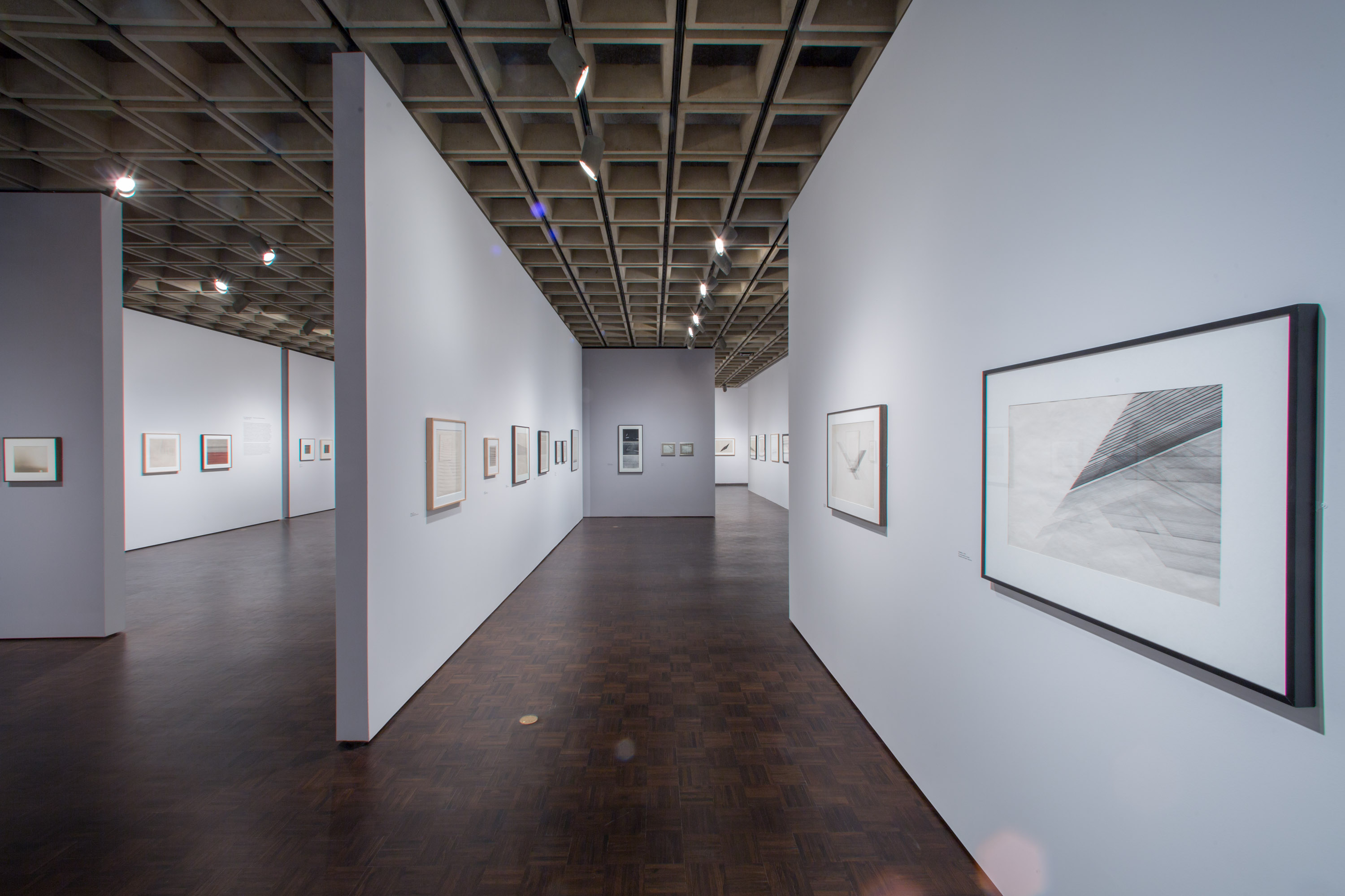 Nasreen Mohamedi installation view